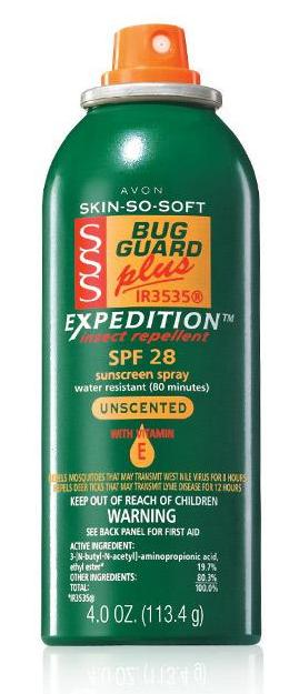 Avon Skin So Soft Bug Guard Plus IR3535® Expedition™ Aerosol Spray SPF 28Avon Skin So Soft Bug Guard Plus IR3535® Expedition™ Aerosol Spray SPF 28